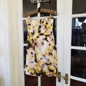 J. Crew Patterned Strapless Dress